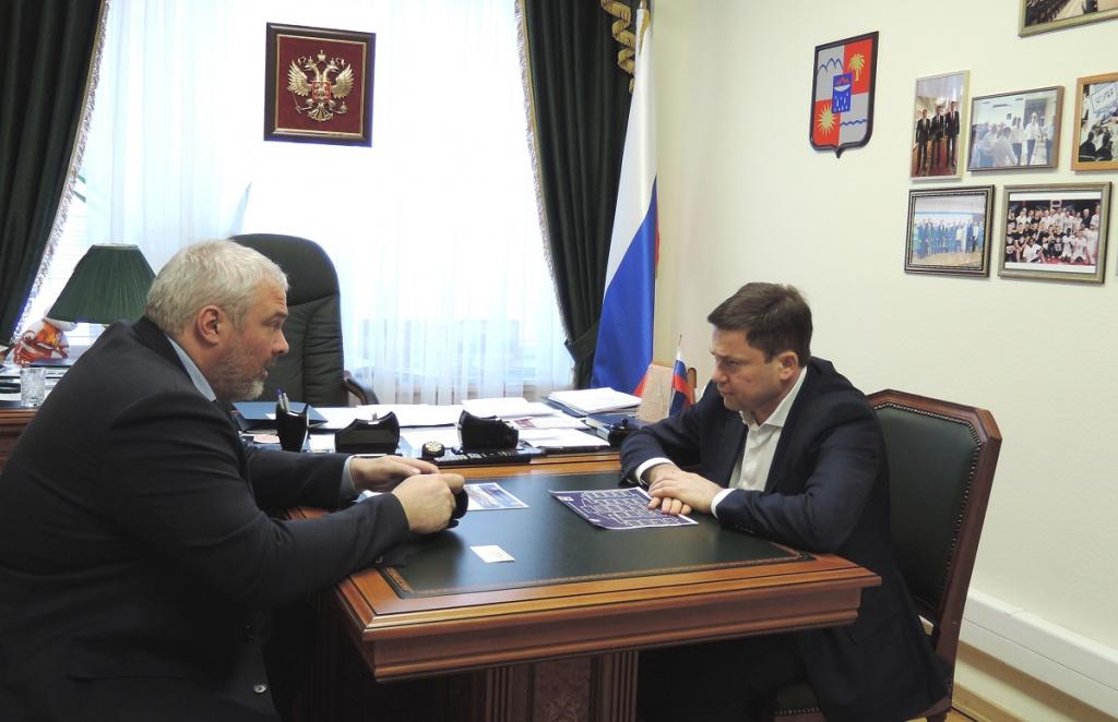 Сергей Кривоносов и генеральный директор АО «СКО ФНПР «Профкурорт» Александр Иванов