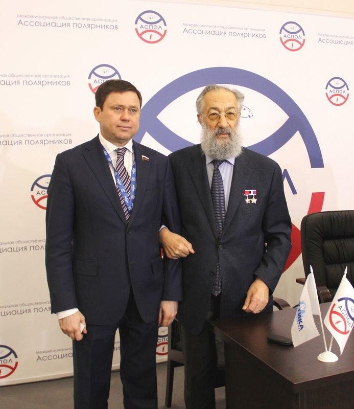 Сергей Кривоносов и Артур Чилингаров на Международном форуме «Арктика: настоящее и будущее»